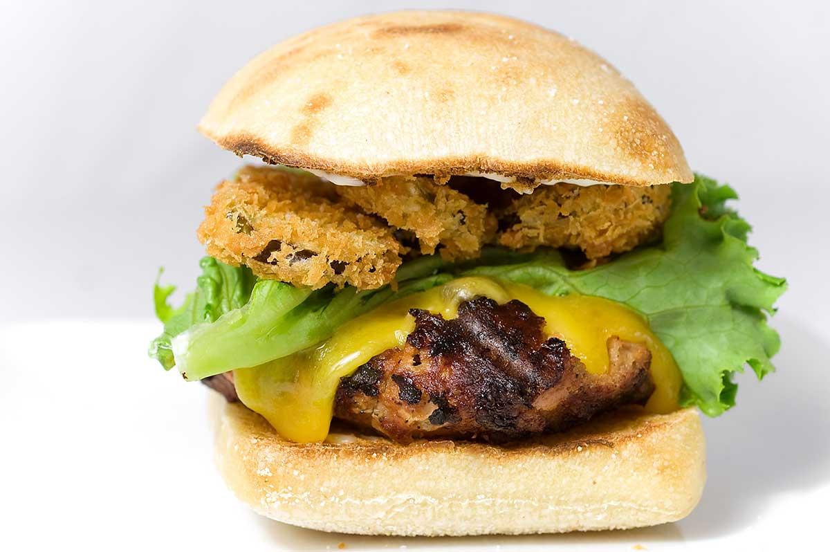 Jalapeno Cheddar Turkey Burger