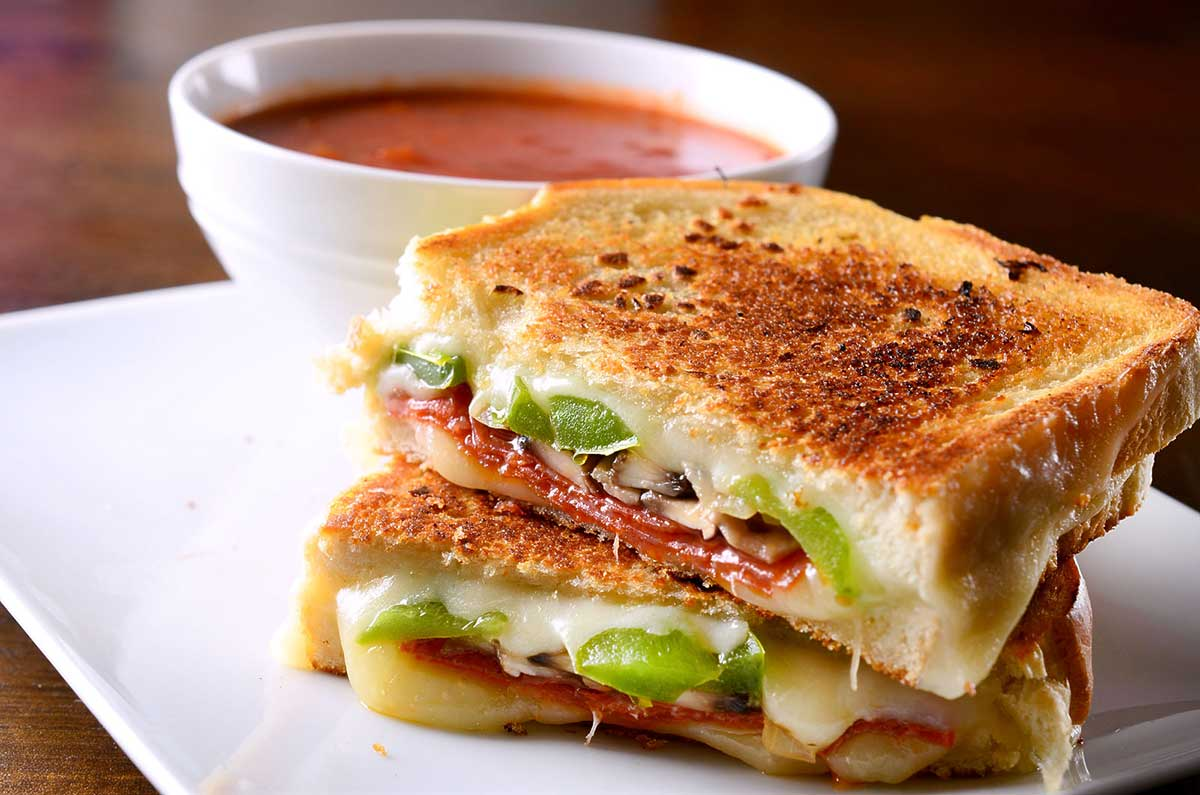Pepperoni Pizza Grilled Cheese Sandwich
