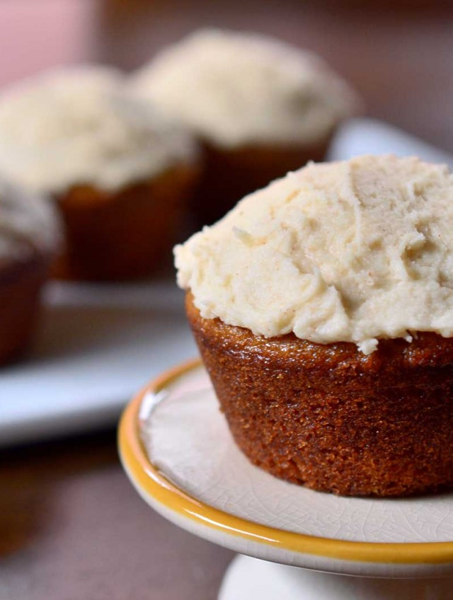 Pumpkin Cupcakes with Browned Butter Maple Frosting