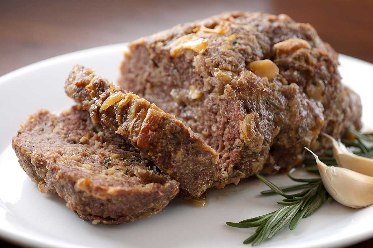 Rosemary and Roasted Garlic Meatloaf