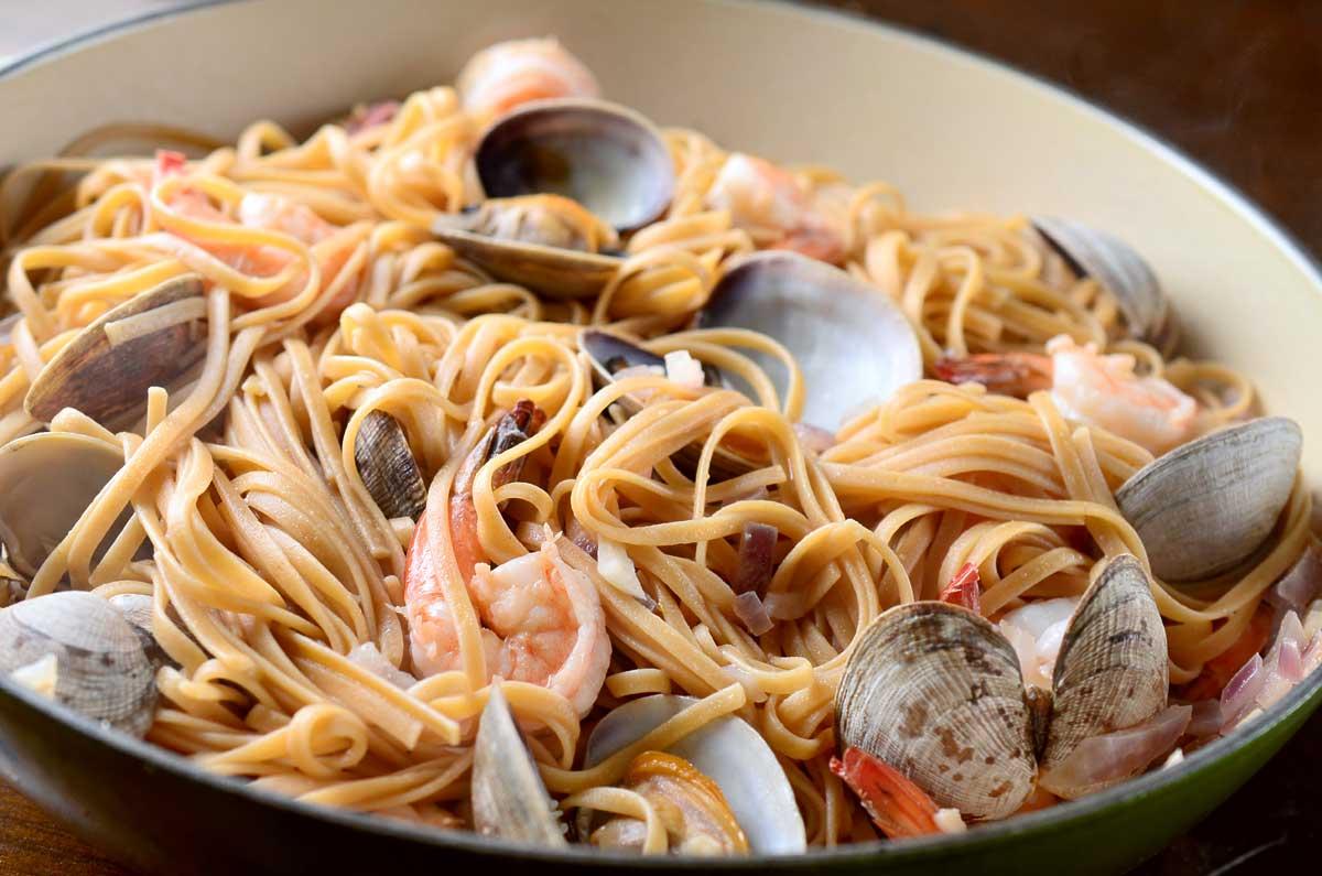 Shrimp and Clam Linguine