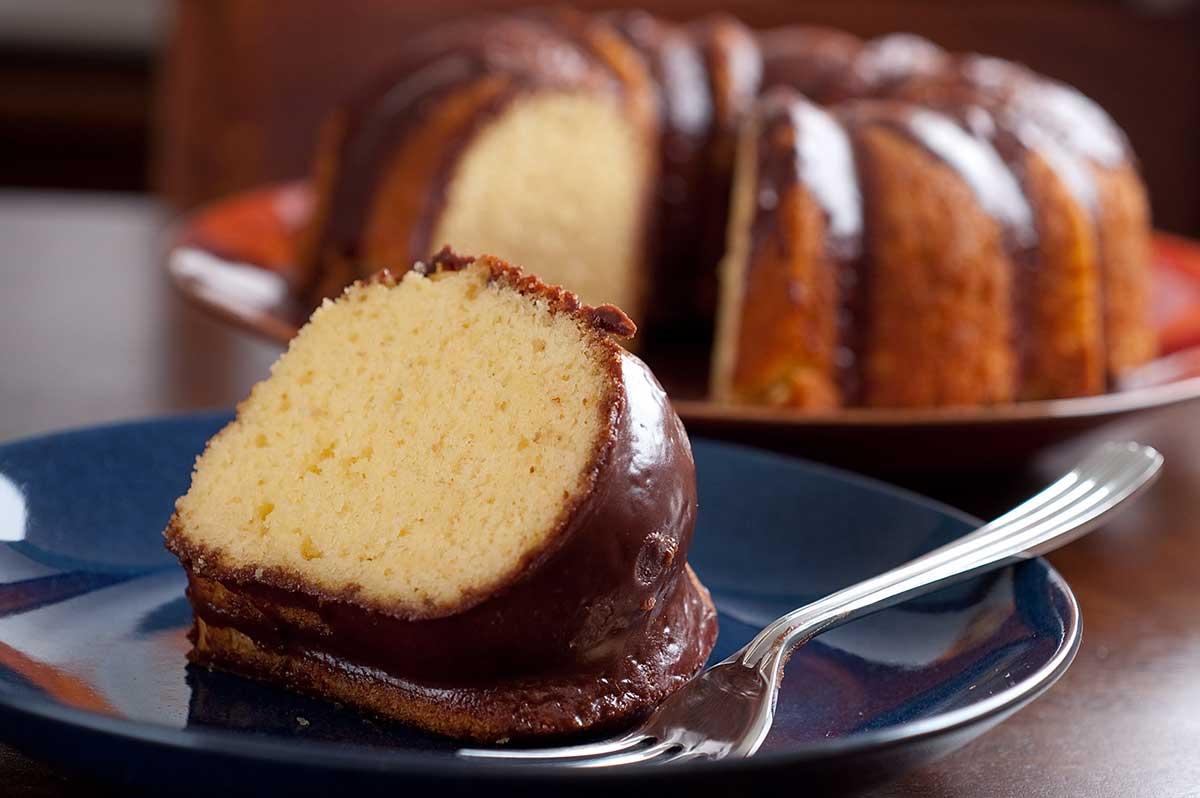 Grandma's Chocolate Glaze for Yellow Cake - Life's Ambrosia